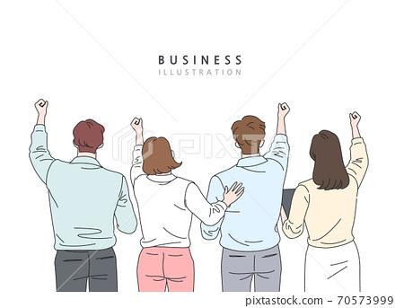 비즈니스,라인일러스트,동작,모션 70573999