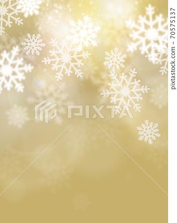 금빛으로 반짝 반짝 빛나는 눈송이 배경 - 여러 종류가 있습니다 70575137