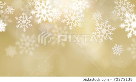 金色閃閃發光的雪晶背景-有多種變化 70575139