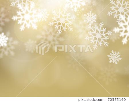 金色閃閃發光的雪晶背景-有多種變化 70575140