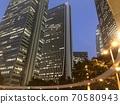 Shinjuku subcenter dusk intersection sky 70580943