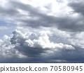 Disturbing clouds Premonition of rain 70580945