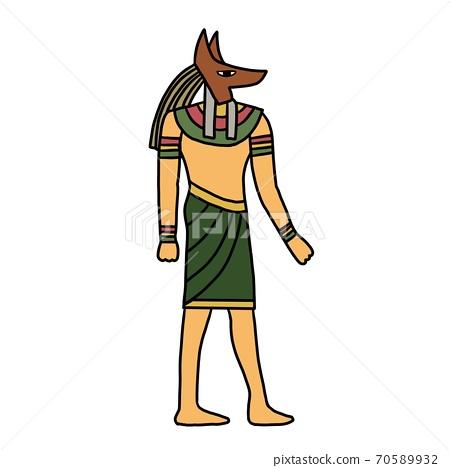 古埃及圖標插畫素材 70589932