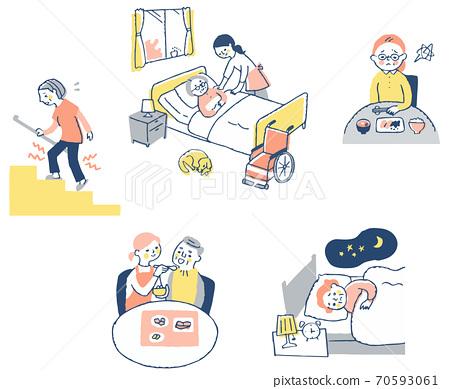 노인 질병과 치료 세트 70593061