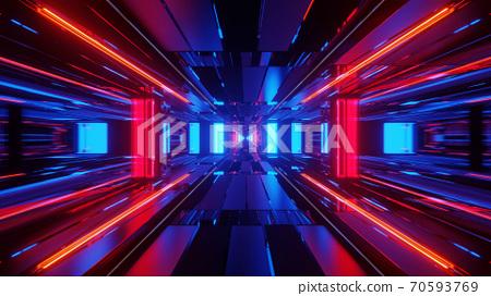 Lighted Cinematic Time Portal 4k uhd 3d illustration background 70593769