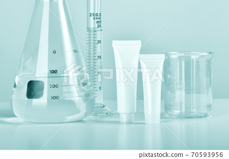 Cosmetic bottle containers and scientific glassware, Blank package for branding mock-up 70593956