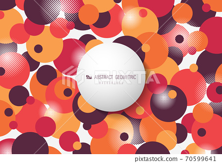 Abstract circle dot pattern of colorful geometric design artwork background. 70599641