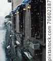 滋賀縣長濱市-當地城市景觀和雪景- 70602387
