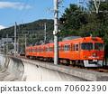 伊予鐵路沿著海灘 70602390