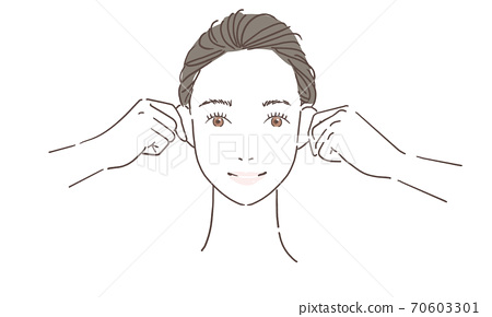 여성 얼굴 운동 70603301