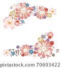 Japanese style flower decoration 70603422
