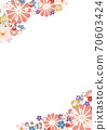 Japanese style flower frame A4 vertical 70603424