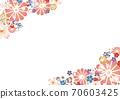 Japanese style flower frame A4 side 70603425