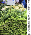 Chinese orchids sold in the Hong Kong market. The most popular and favorite Hong Kong vegetable 70604379