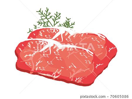 日本牛肉大理石的肉圖 70605086