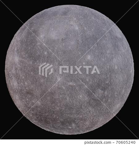 Planet Mercury. Isolated on black background 70605240