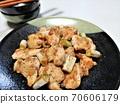 美味的雞肩和鹽烤洋蔥 70606179