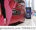 """Foot of the common people of Hong Kong """"Tram"""" (tram) Foot of the common people of Hong Kong who have been running since the British colonial times 70606232"""