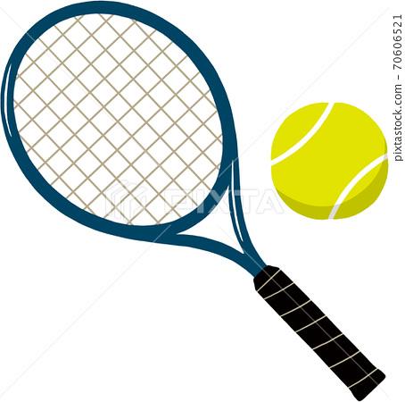 網球拍和球 70606521
