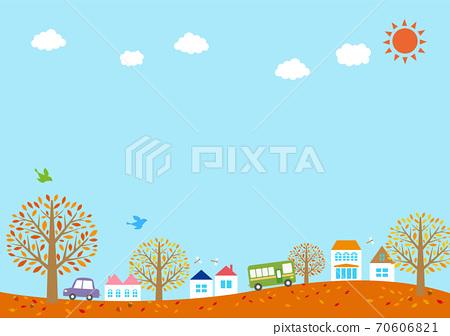 秋季城市景观的插图 70606821