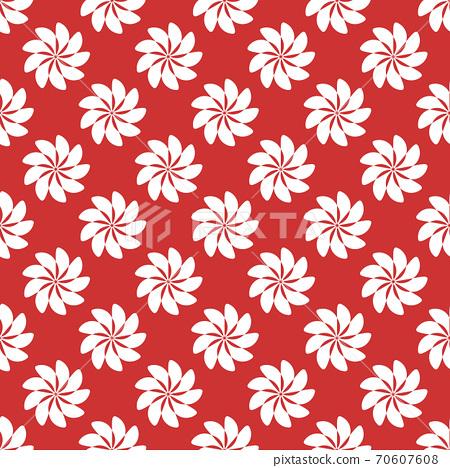 白色幾何圖案在紅色背景的無縫圖案 70607608