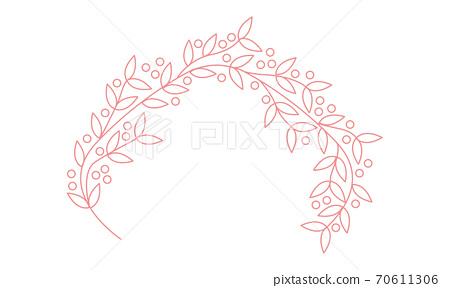 銀杏頭飾線描插圖 70611306