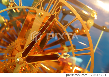 close up of vintage clock. select focus 70613791