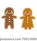 Gingerbread man cookie illustration 70615689