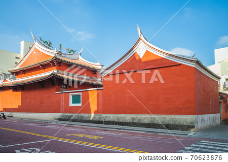 State Temple of the Martial God in tainan, taiwan. the translation of the chinese text is high morality reaching up to the clouds and sky. 70623876