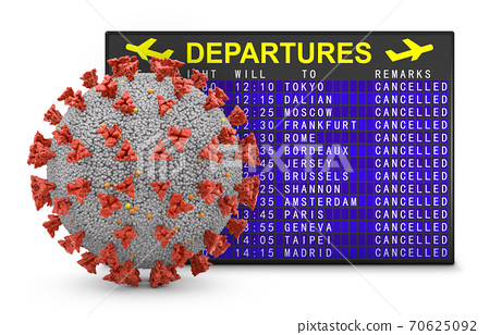 Coronavirus and departure board 70625092