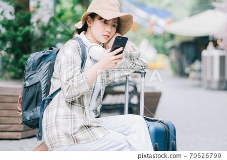 Woman, travel, backpacker 70626799