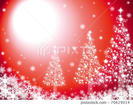 Christmas triple tree red 70629014