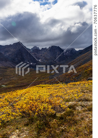 Beautiful View of Scenic Mountains and Landscape 70637776