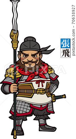 三個王國的張飛拿著蛇矛[銀色] 70638927