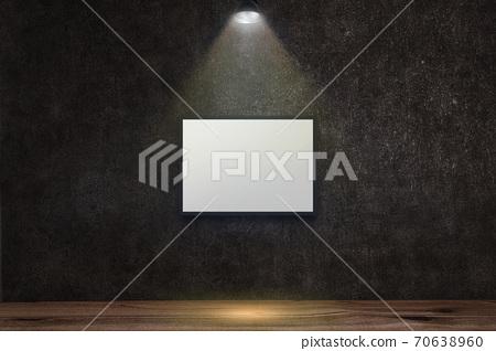 콘크리트 벽에 푸른 조명의 배경 그래픽 소재 70638960
