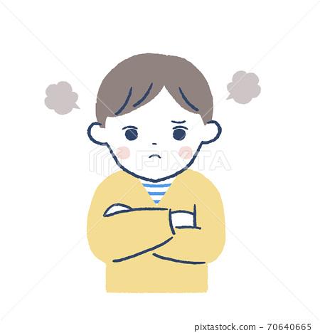 一個生氣的男孩 70640665