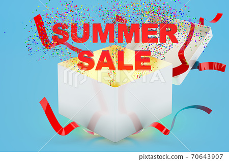 Summer Sale concept, 3D rendering 70643907