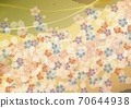 Japanese style floral pattern and golden background A4 sideways 70644938