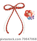 Japanese style ribbon and flower decoration 70647068