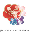 Japanese style floral decoration 70647069