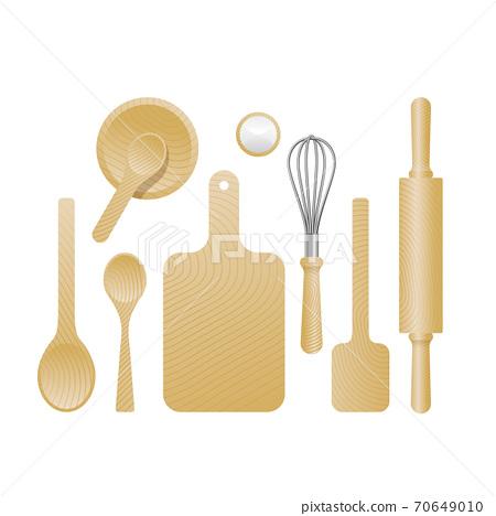 kitchenware set in top view 70649010