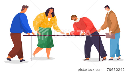 Office workers. Co-workers. Colleagues discuss project teamwork. Office staff work and communication 70650242