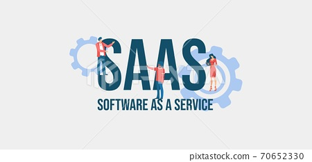 SAAS Software as a service. Informational online communication social media marketing technologies. 70652330