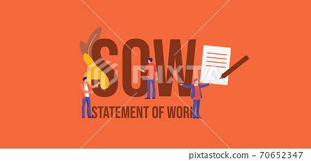 SOW Statement of work. Promotional communication media marketing technologies. 70652347