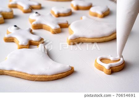 萬聖節 裝飾 餅乾 薑餅 Decorating cookie ジンジャークッキー 70654691