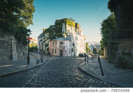 quarter Montmartre in Paris, France 70658406
