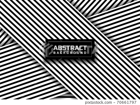 Abstract black striped line pattern on white background and texture. 70661797