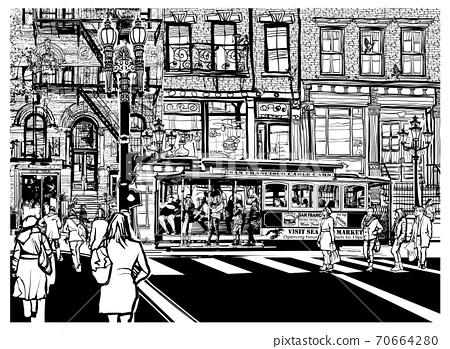 San Francisco, Historic street and tramway 70664280