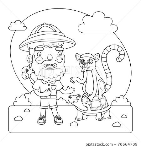Zookeeper Coloring Page 70664709