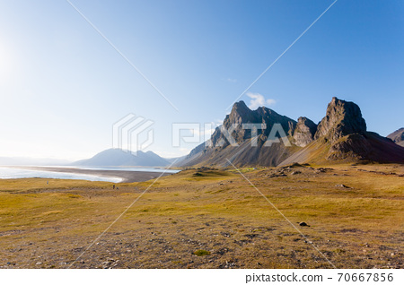 Hvalnes lava beach landscape, east Iceland landmark 70667856